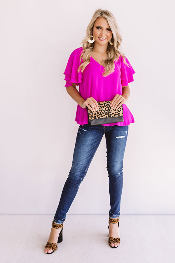 Suite Dreams Shift Top In Fuchsia