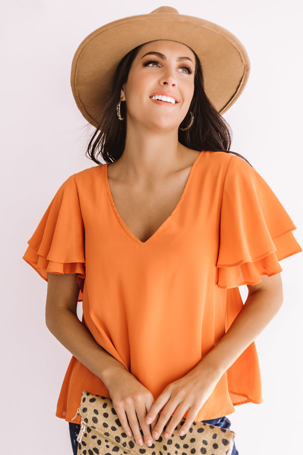 Suite Dreams Shift Top In Orange