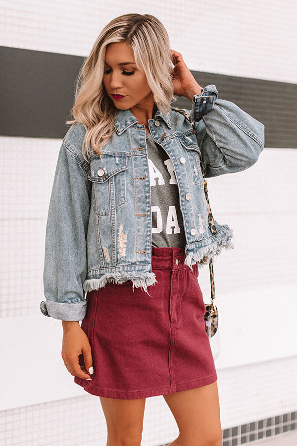 The Walker Distressed Denim Jacket