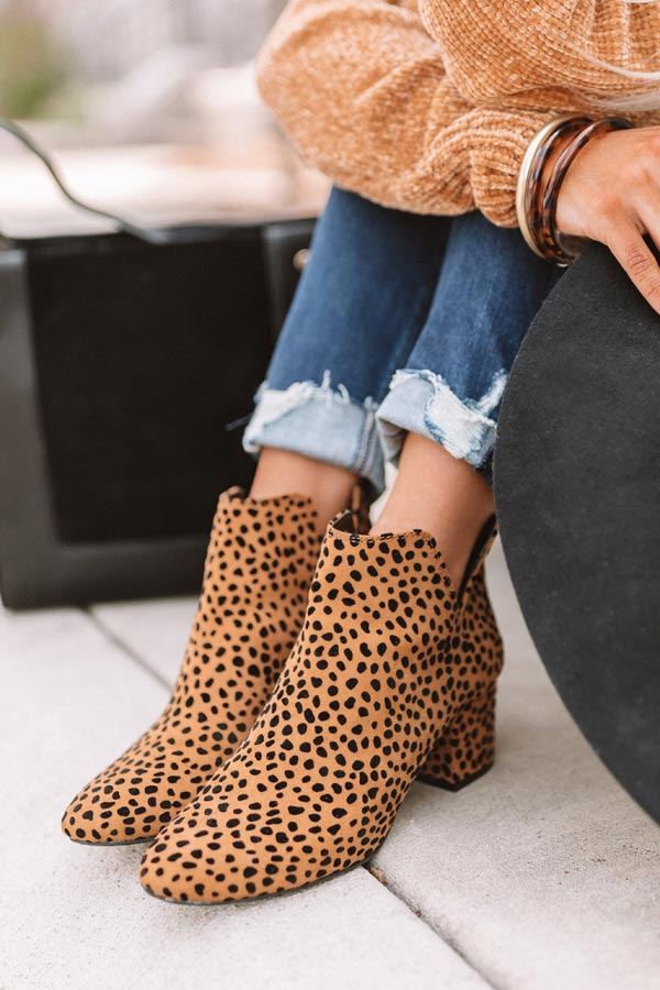 The Knox Leopard Bootie