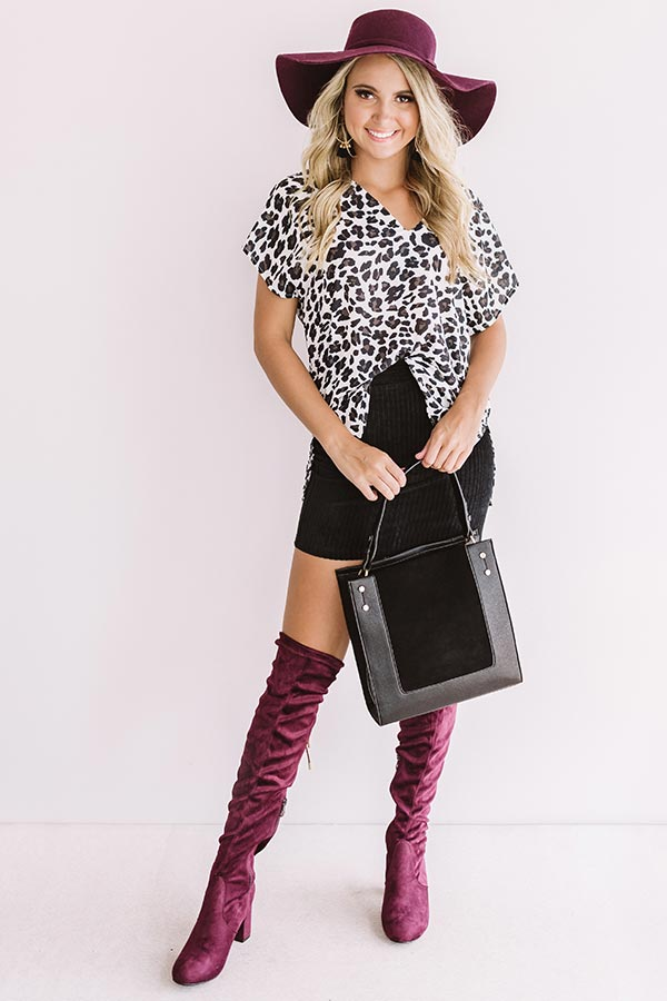 Timeless Beauty Leopard Shift Top