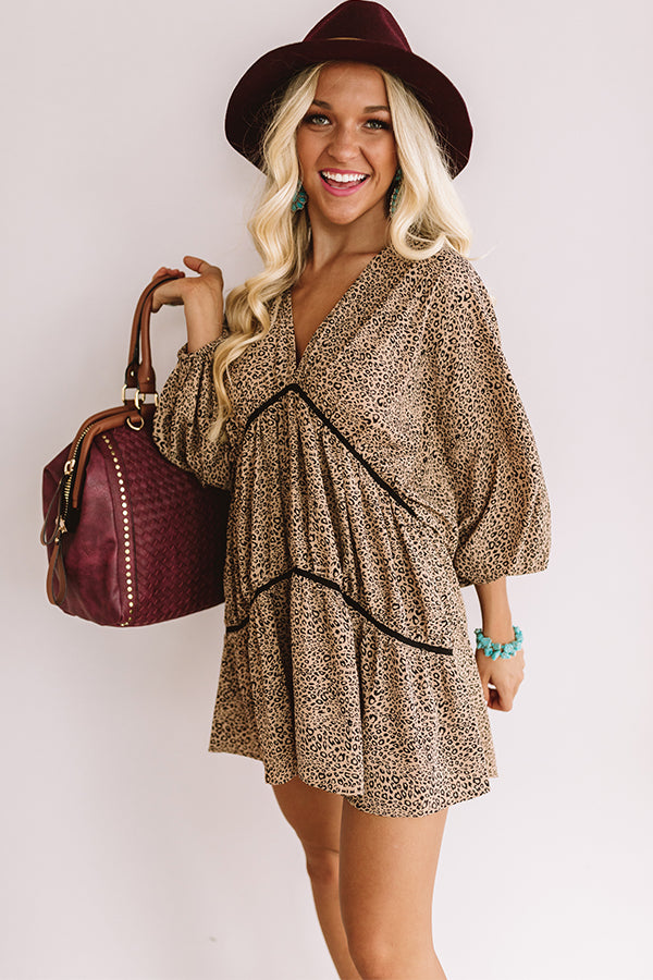 Napa Valley Vino Leopard Babydoll Tunic Dress