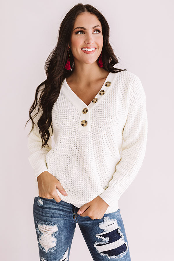Warm Up Buttercup Knit Sweater In Ivory