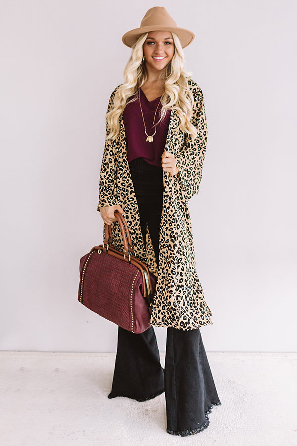 Wine Country Leopard Duster