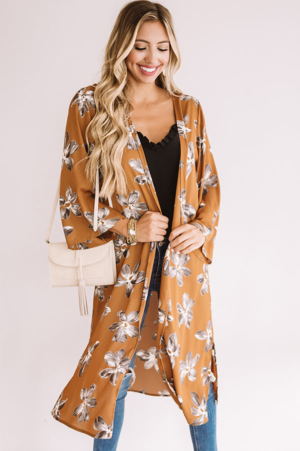 Wine Country Floral Duster