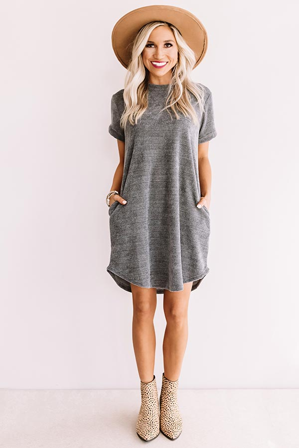 Sedona Sunrise Shift Dress In Light Slate