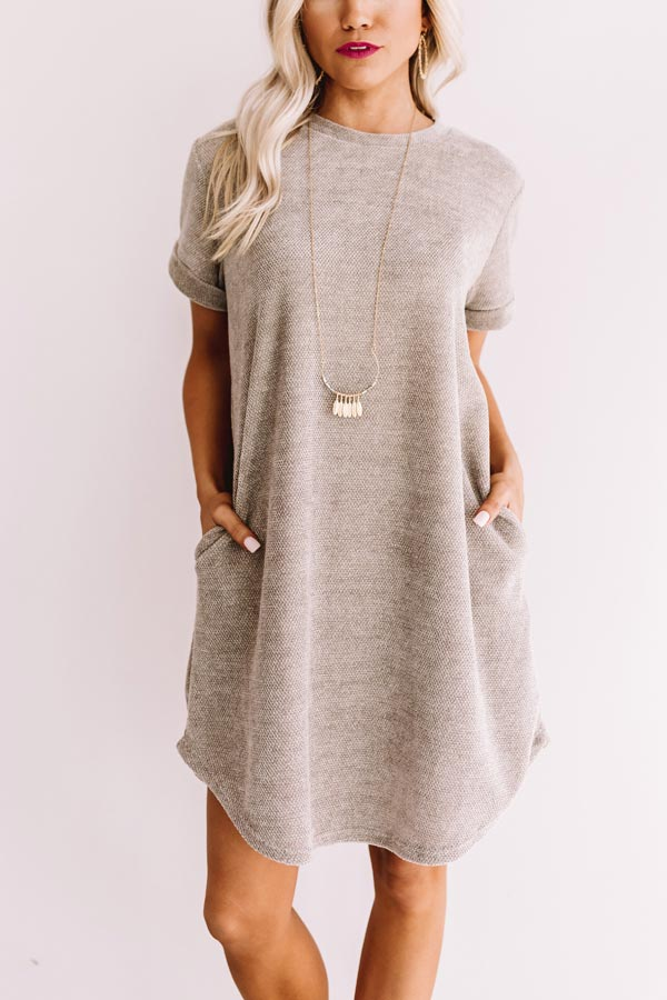 Sedona Sunrise Shift Dress In Grey