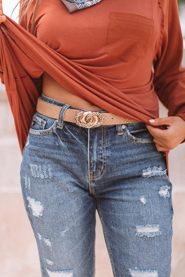 Full On Fashionista Belt In Brown