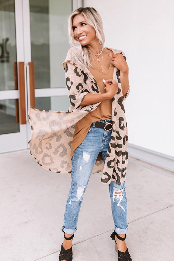 Bonfire Bonding Leopard Cardigan