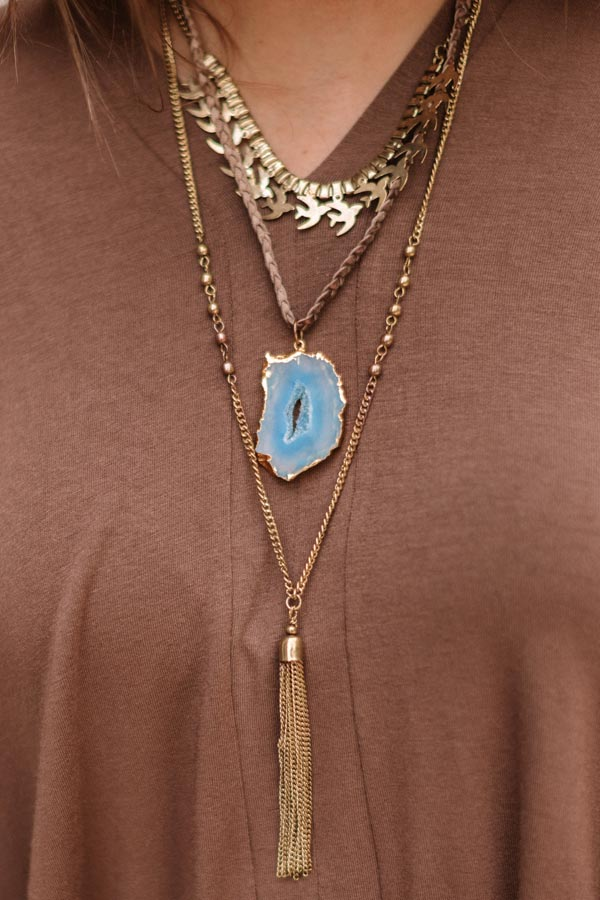 Chic Success Agate Layered Necklace