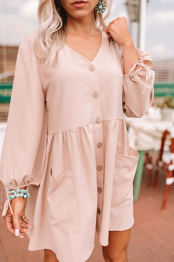 Vineyard Visit Tunic Dress in Latte
