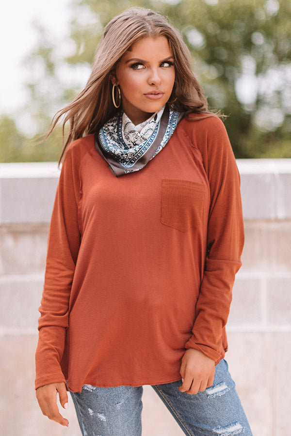 Southern Breeze Shift Top in Rust