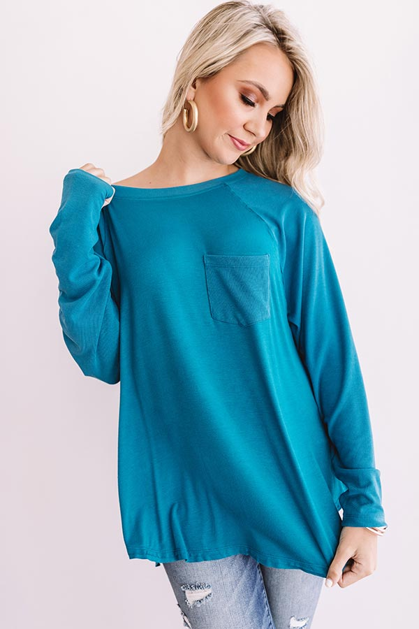 Southern Breeze Shift Top in Teal