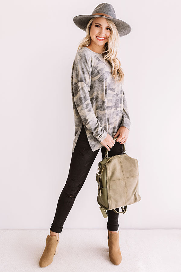 Dreaming In Denver Camo Sweatshirt