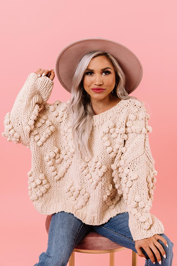 Lover Of Life Hand-Knit Sweater In Ivory