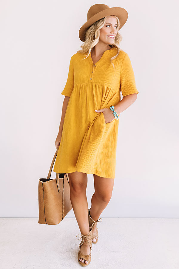 Southern Saturday Babydoll Dress in Marigold