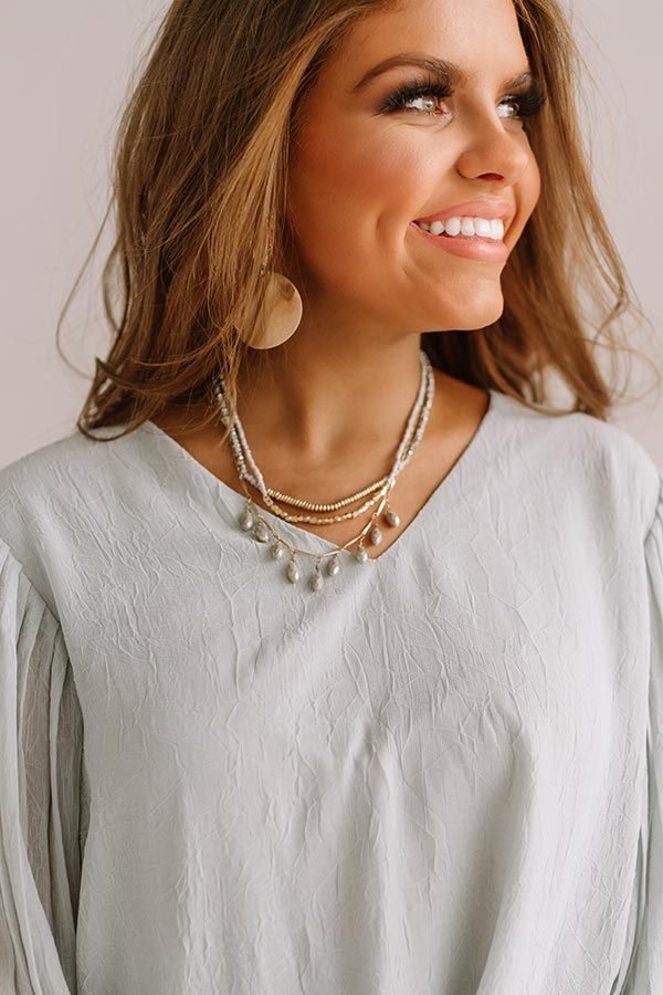 City Sparkles Layered Necklace in Dark Grey