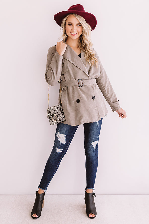 Manhattan Breeze Light Weight Jacket In Taupe