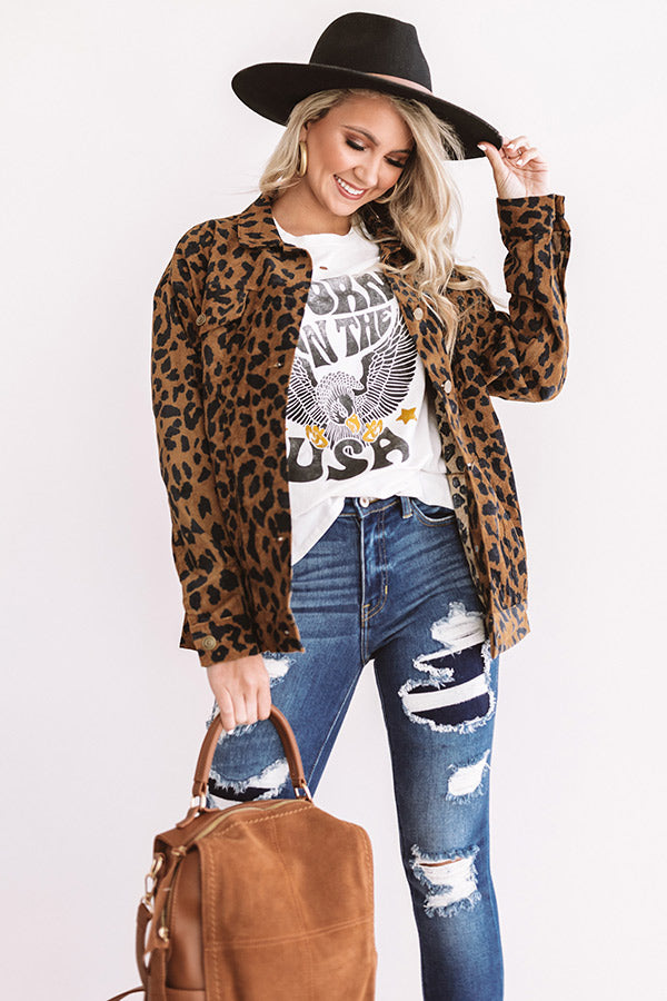 Westward Bound Leopard Light Weight Jacket