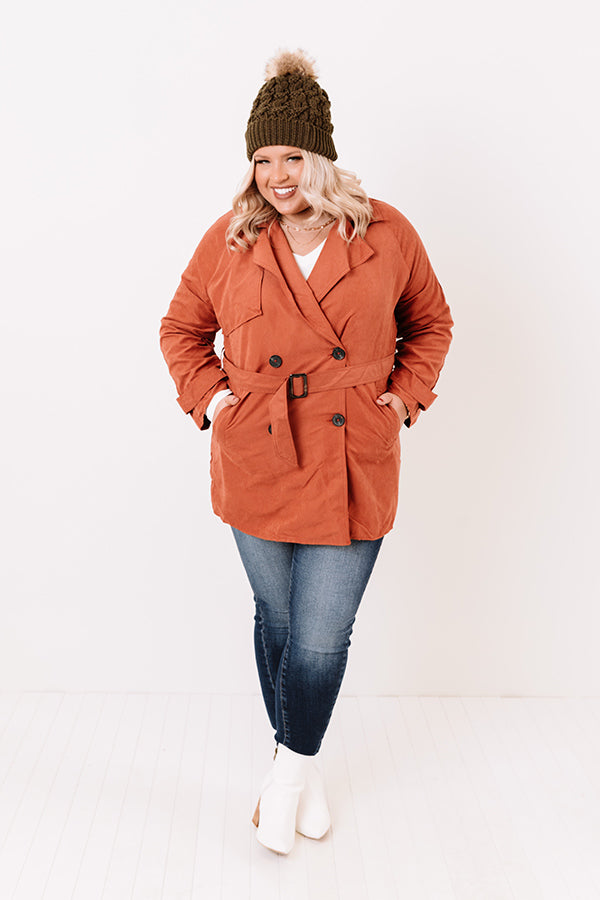 Manhattan Breeze Light Weight Jacket In Rust