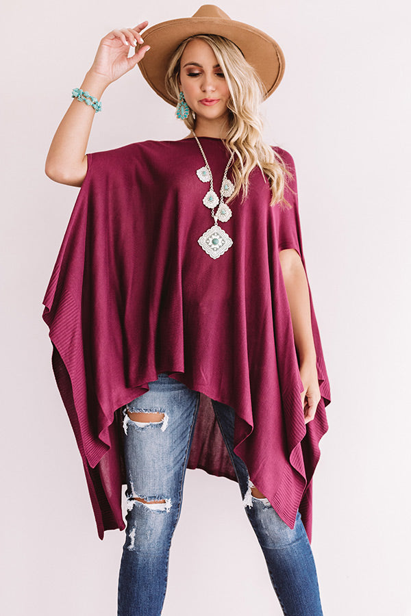 Dance Until Daylight Shift Tunic In Wine