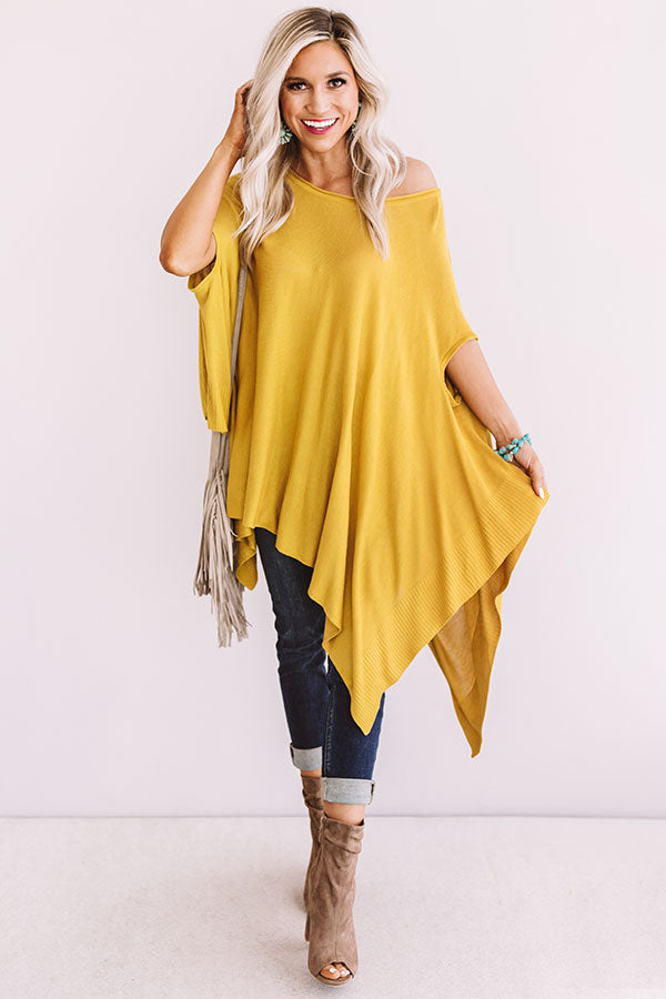 Dance Until Daylight Shift Tunic In Mustard