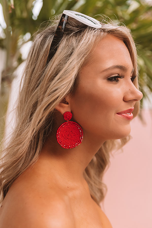The Perfect Day Earrings In Red