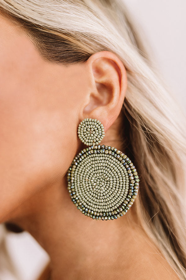 The Perfect Day Earrings In Sage