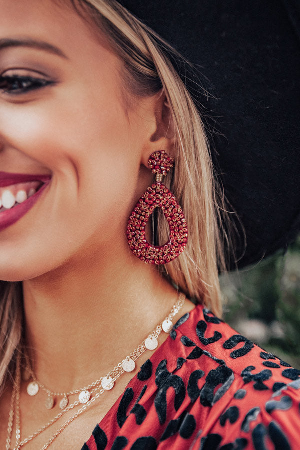 Fancy In France Earrings In Wine