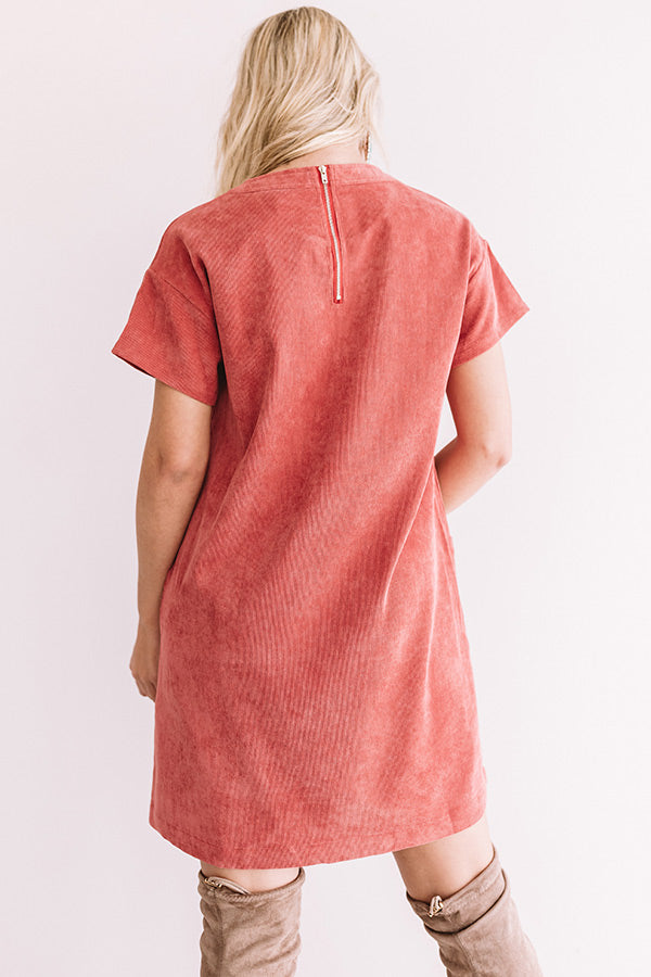 Thankful And Grateful Shift Dress In Red
