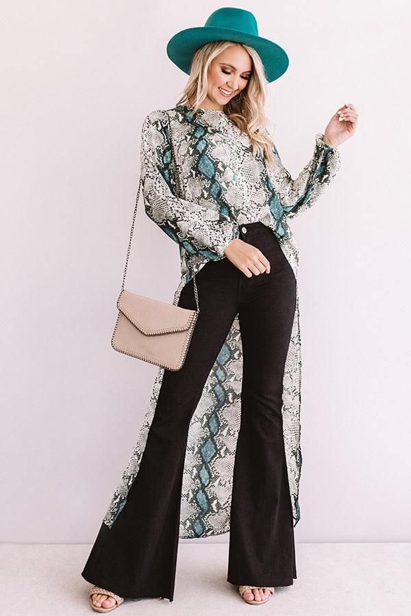 Divine Time Snake Print Top