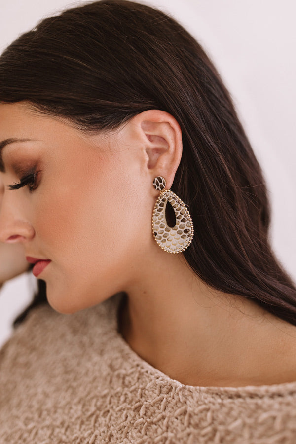 Ultimate Comeback Snake Print Earrings
