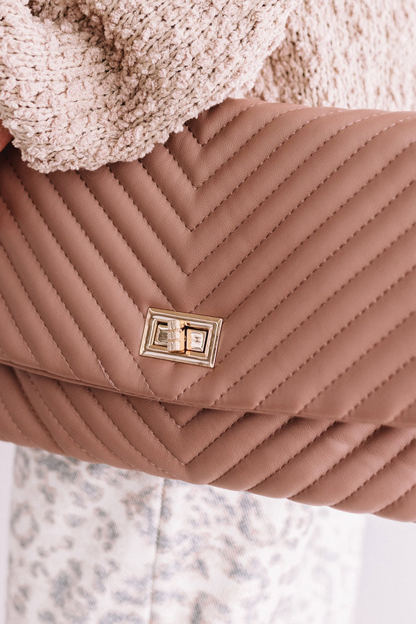 Delicate Details Faux Leather Clutch In Blush