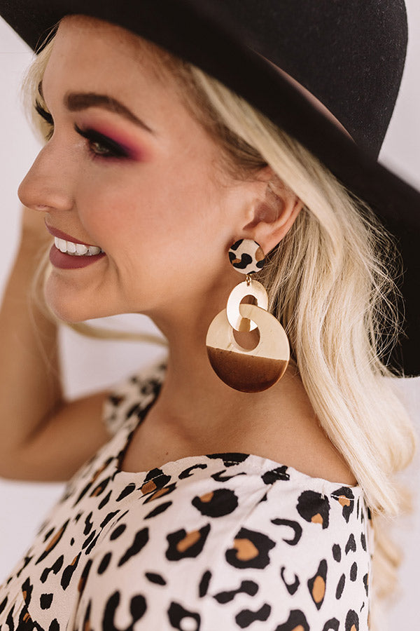 Style Revival Earrings In Brown