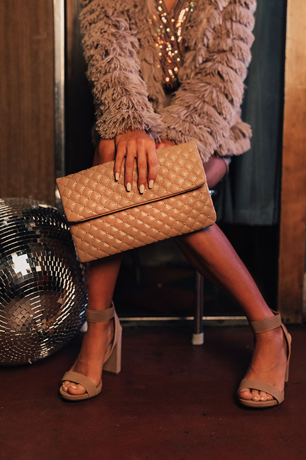 Trendy In The City Clutch In Blush
