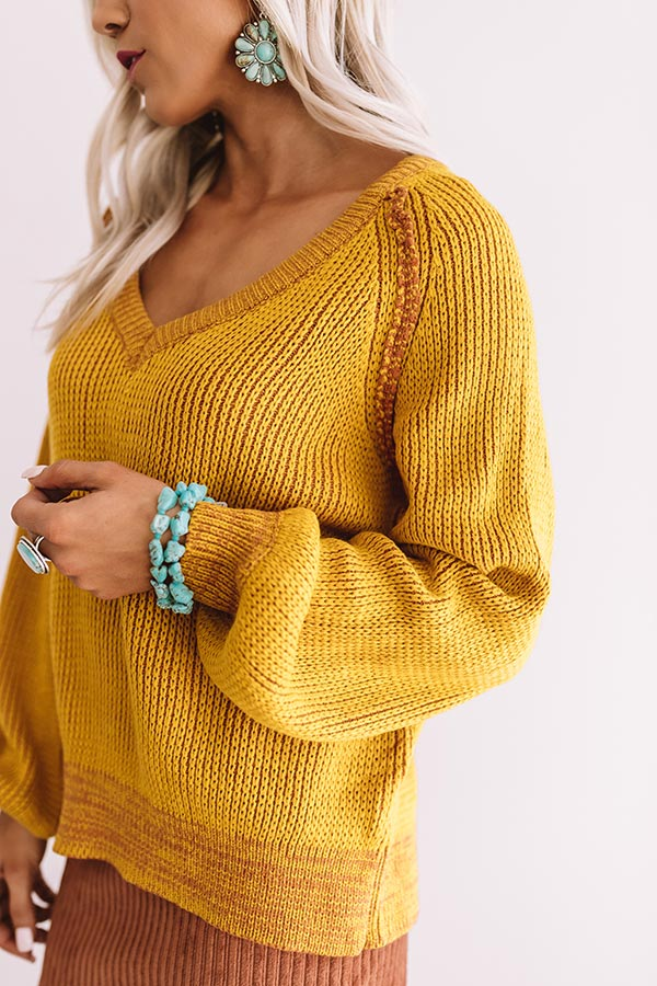 Call Knit A Day Sweater In Mustard
