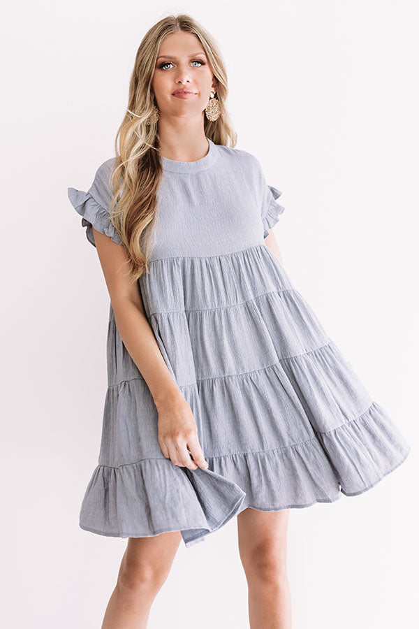 Love Potion Babydoll Dress in Light Slate
