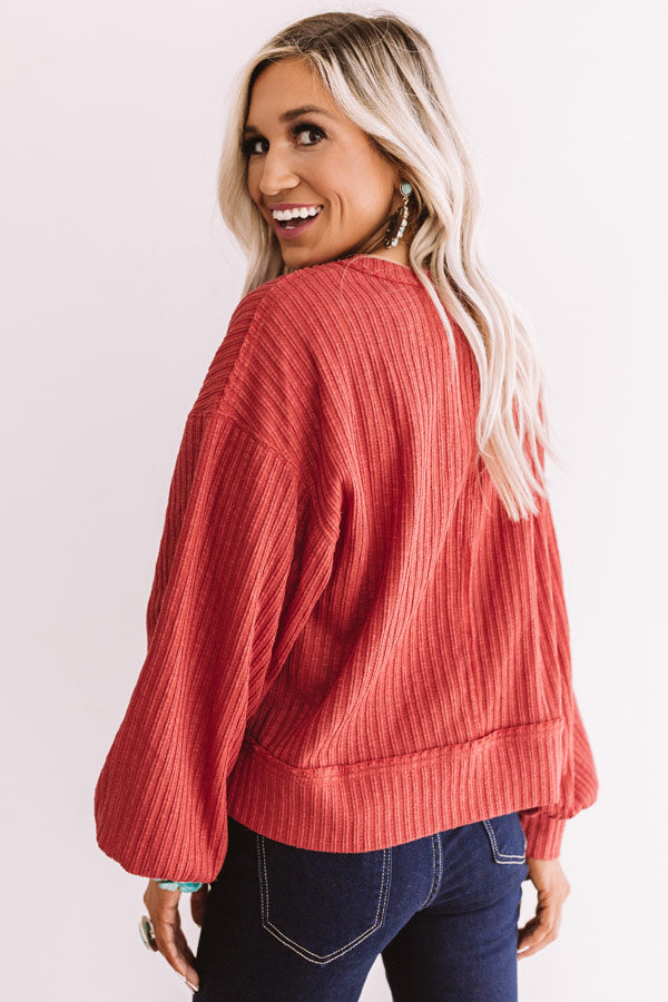 Free Falling Shift Top In Aurora Red
