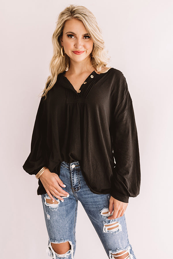 Across The Universe Shift Tunic In Black