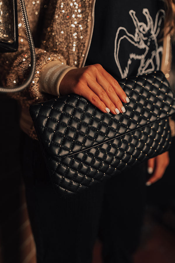 Trendy In The City Clutch In Black