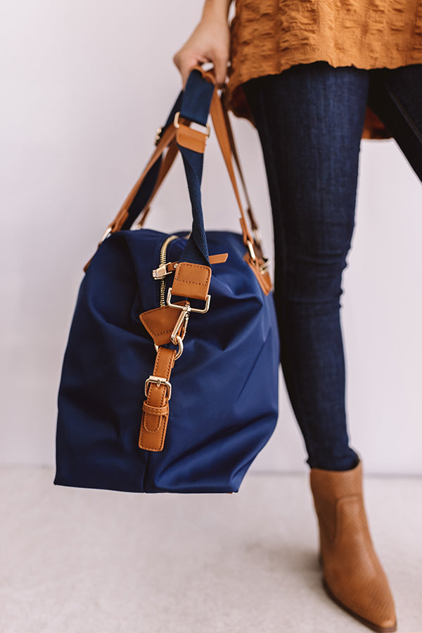 Breckenridge Vacay Weekend Tote In Navy