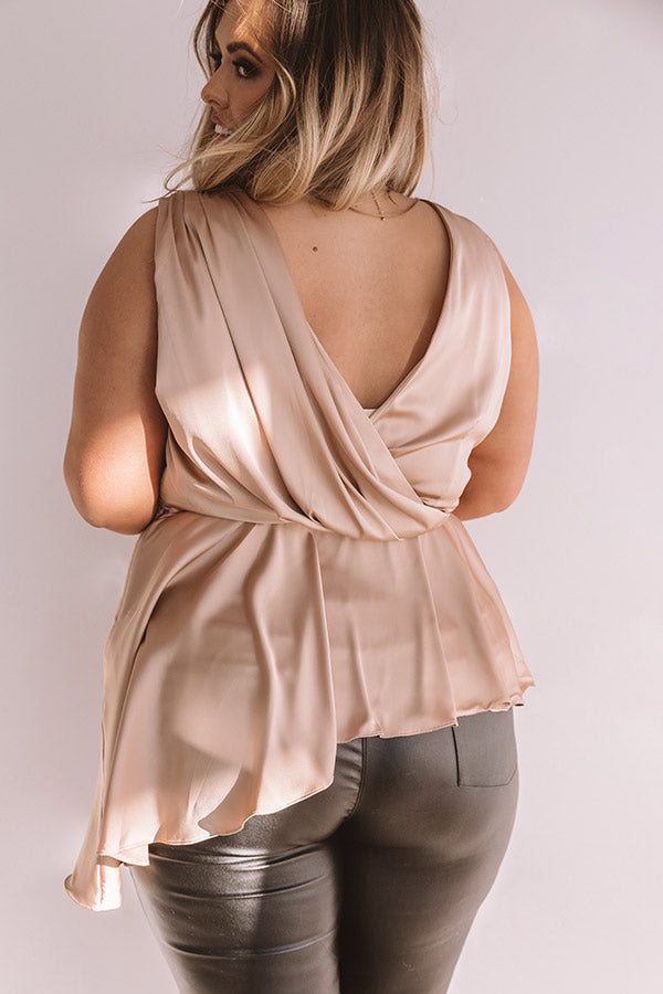 Girls Night Out Satin Top