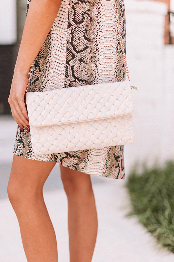 Trendy In The City Clutch In Stone