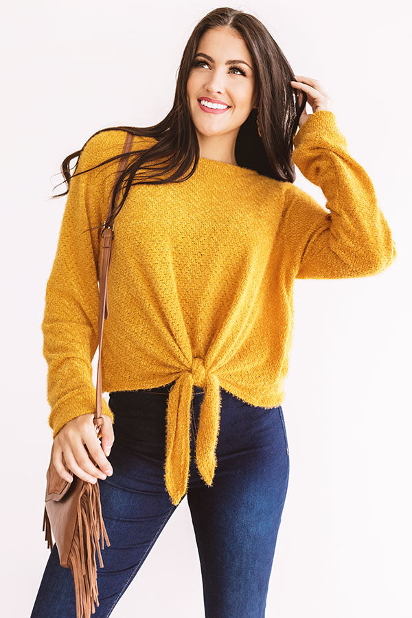 Playing Knit Cool Top In Golden Honey