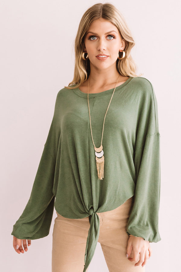 In Midtown Manhattan Shift Top In Olive
