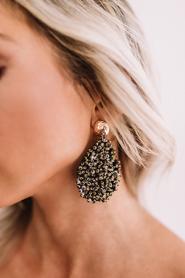 Wine And Wishes Earrings In Black
