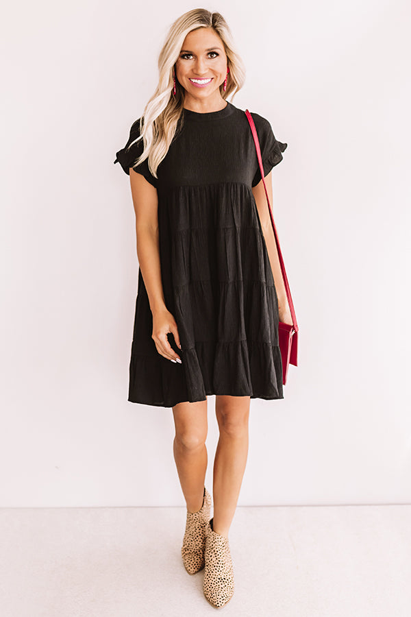 Love Potion Babydoll Dress in Black