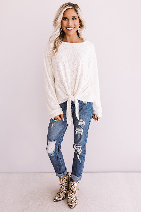 Playing Knit Cool Top In Ivory