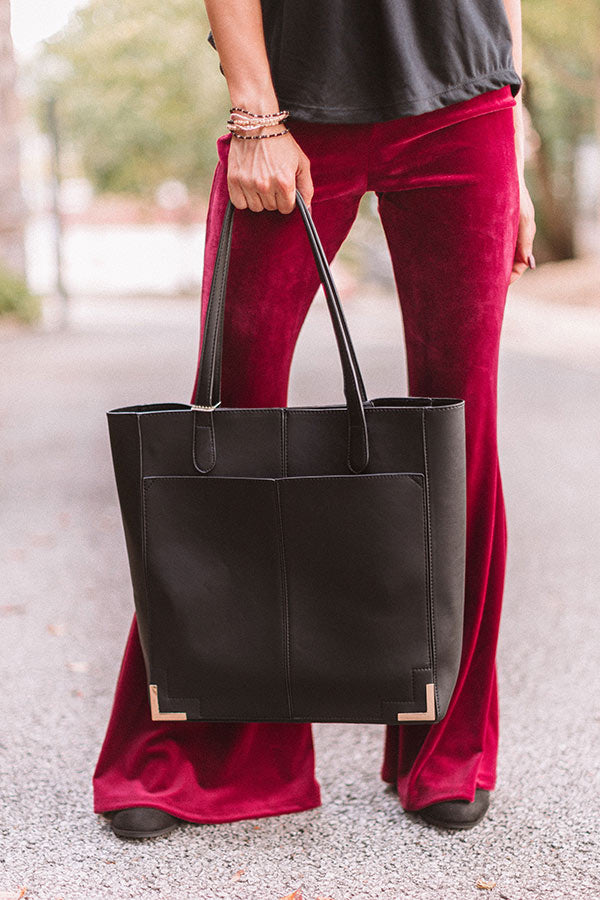 Just Your Type Faux Leather Tote