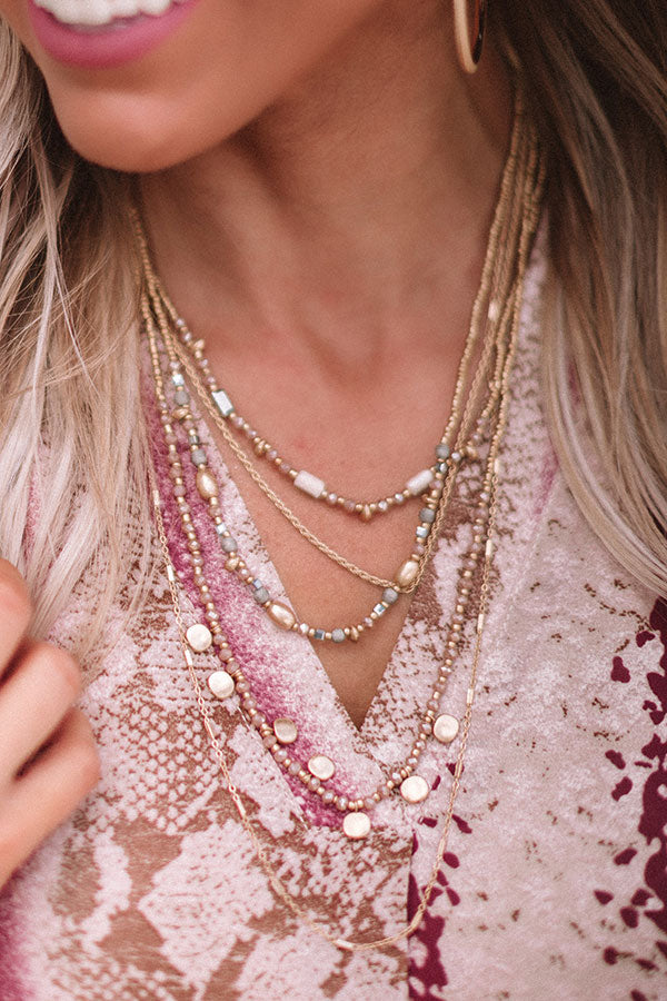 Best One Yet Layered Necklace In Gold